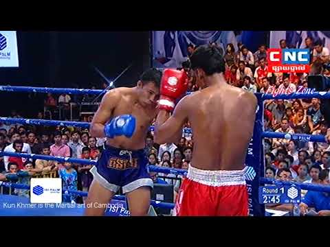 Kun Khmer, Chem Chetra (Cambodia) Vs Plainoi (Thai) , CNC boxing, 24 June 2018 | Fights Zone