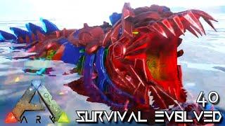 ARK: SURVIVAL EVOLVED - ROBOT MOSASAUR TEK SEA MONSTER !!! ETERNAL PROMETHEUS TUNGUSKA E40