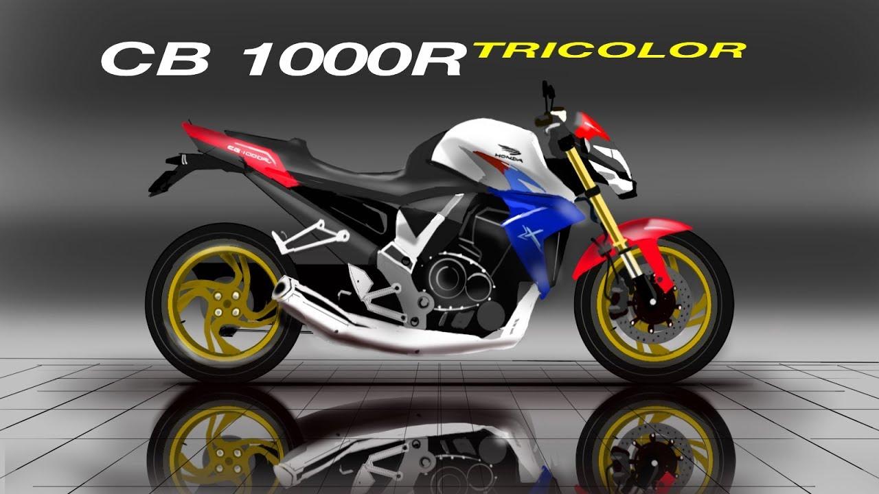 Honda CB 1000R Tricolor Sketch Cars Design
