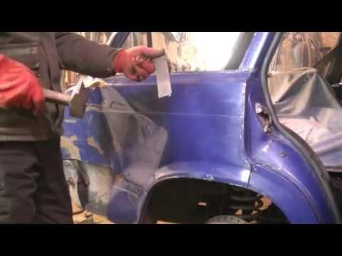 Ролик Замена заднего крыла на ВАЗ 2104 .Кузовной ремонт