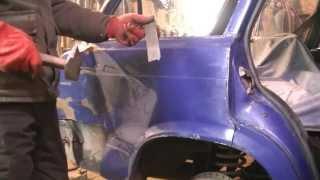 Замена заднего крыла на ВАЗ 2104 .Кузовной ремонт