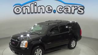 A10140PT Used 2014 GMC Yukon SLT 4WD SUV Black Test Drive, Review, For Sale