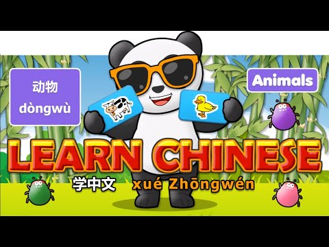 Learn Chinese in 3 easy steps: Animals - dòngwù - 动物  English - Pinyin - Chinese Characters