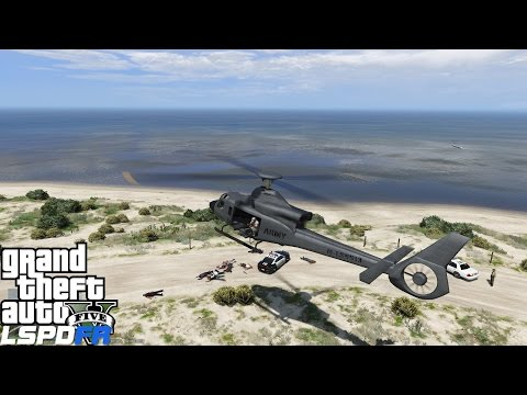 GTA 5 LSPDFR Police Mod 116 | Military Patrol At Fort Zancudo Air Force Base | Humvee & Helicopter