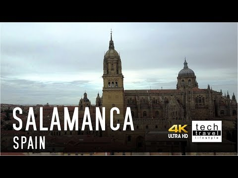 [4K] Salamanca Cathedral - Spain Drone View