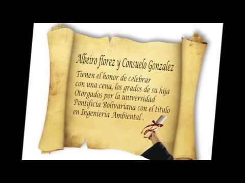 Tarjeta Invitacion De Grados Youtube