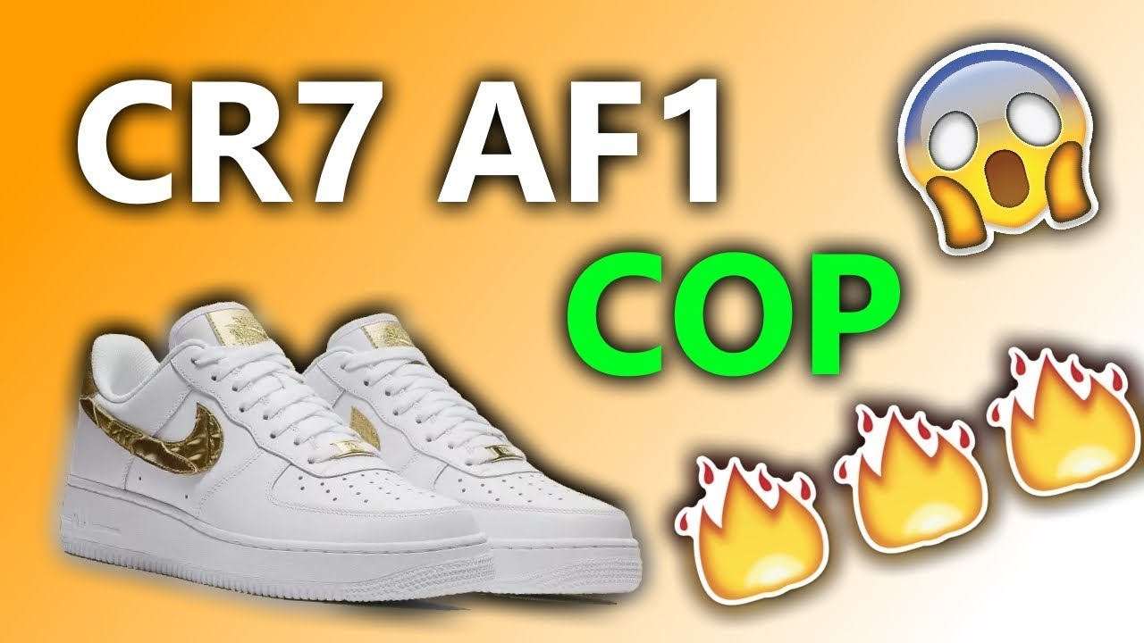 new product d47fc f9d00 Nike Air Force 1 CR7 'Golden Patchwork' Unboxing - YouTube