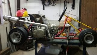 Go-Kart with a 125cc Dirt Bike engine
