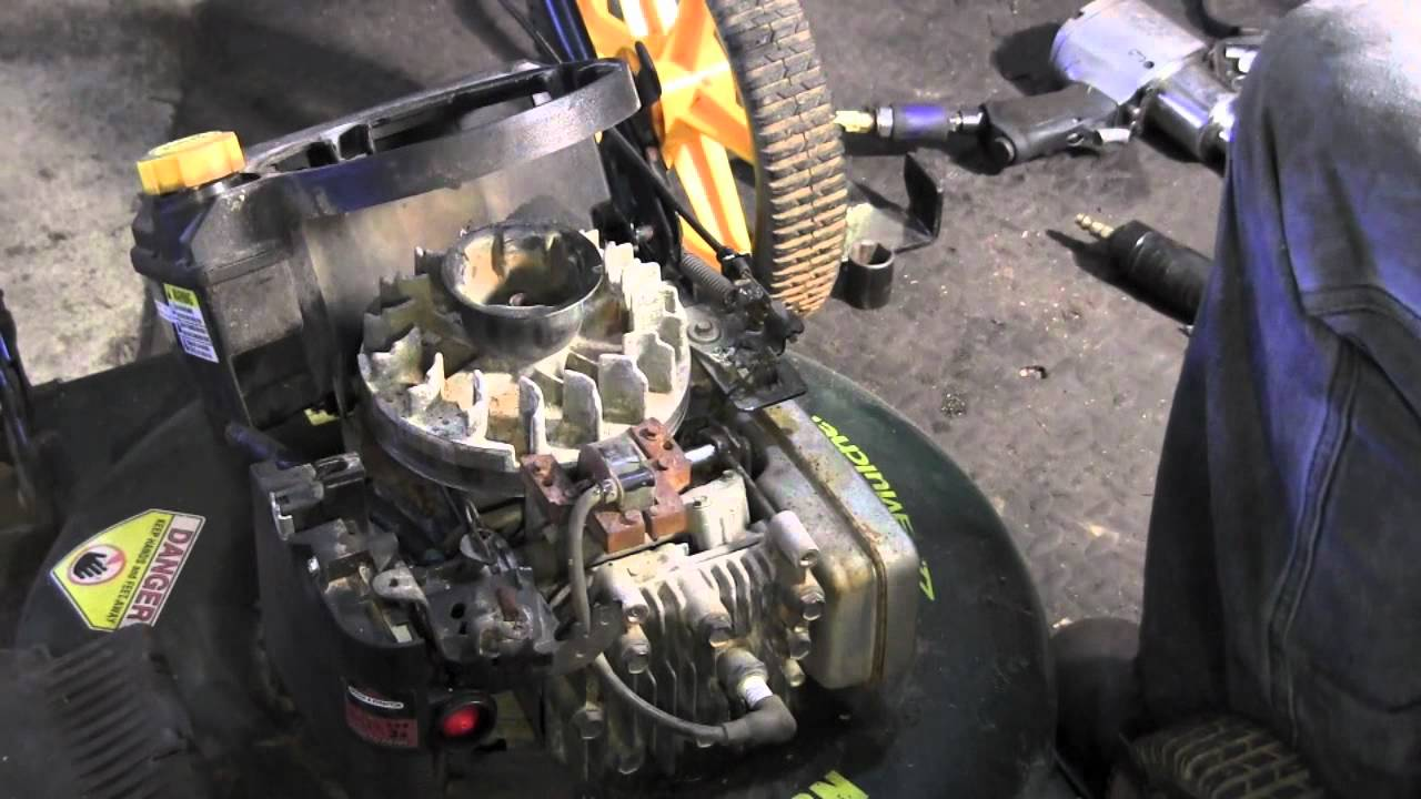 How To Replace Flywheel Key On Lawn Mower Youtube