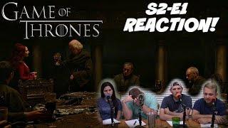 Game Of Thrones Season 2 Episode 1 REACTION!