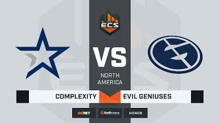 [RU] Evil Geniuses vs Complexity  | Map 1: Overpass | ECS Season 8 North America
