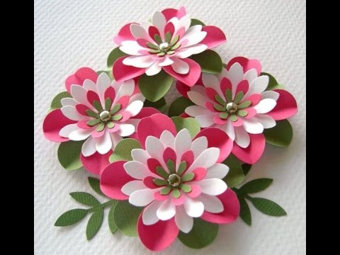 Easy To Make A 3d Paper Flower Art With In Minutes