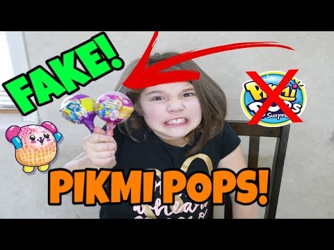 Fake Pikmi Pops! Fake Vs. Real Pikmi Pops!