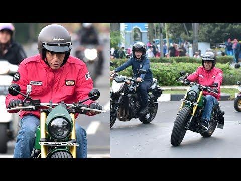 Blusukan ke Pasar Anyar Banten, Joko Widodo Mengendarai Motor Custom Model Tracker Mp3