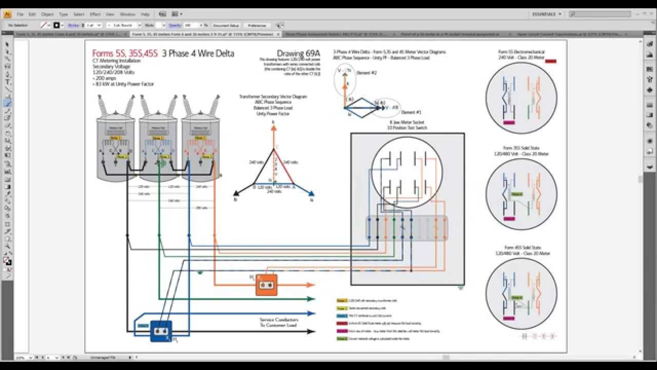 maxresdefault metergod monday 5s, 35s, 45s on 3 phase 3 wire delta and 3 phase form 5s meter wiring diagram at bakdesigns.co