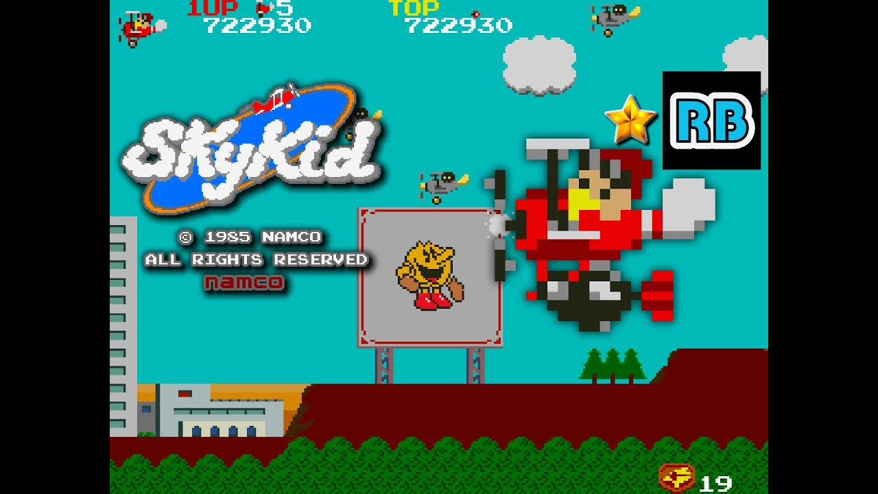 1985 [60fps] Sky Kid 1139420pts ALL
