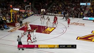 First Half Highlights: Utah at Minnesota | Big Ten Basketball