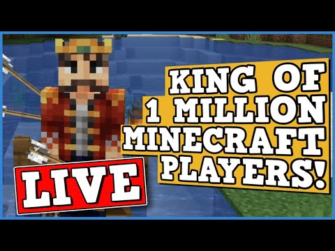 Becoming King In Minecraft Hardcore Multiplayer of 1 million players with 1 life!!