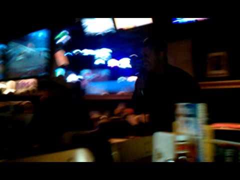 Herschel sims at b-dubs singing karaoke.