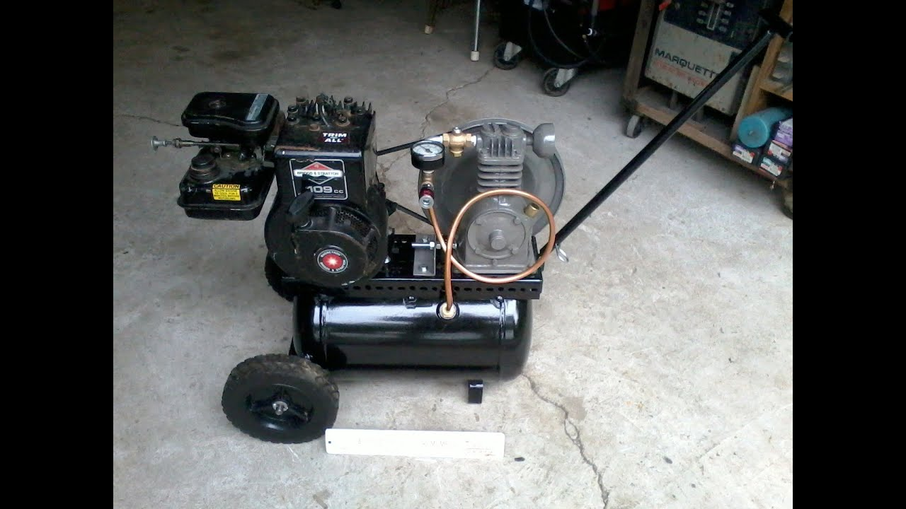 Home Built Gasoline Powered Air pressor