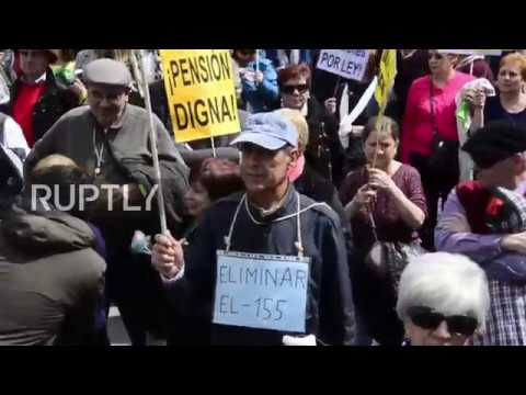 Spain: 25,000 hit Madrid to demand better pension packets