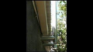Один из способов установки оцинкованных труб вытяжки