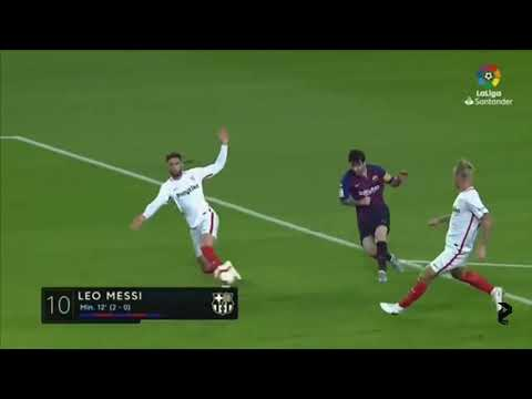 Los goles de Messi en La Liga, temporada 2018-2019.