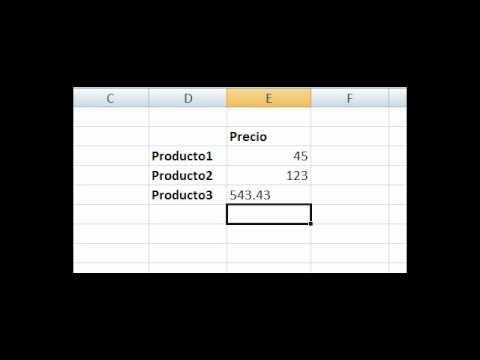 Usar decimales correctamente en Excel - YouTube