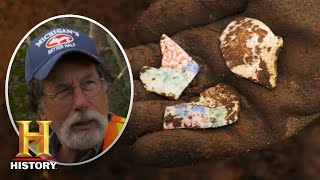 The Curse of Oak Island: Stunning Hand-Painted Artifacts Found (Season 8) | History