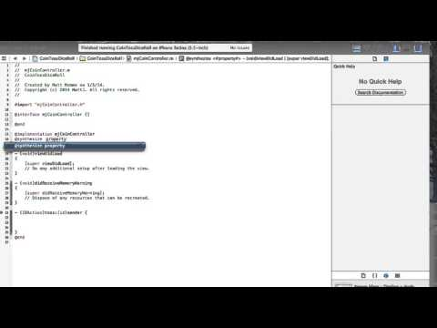 Xcode #9 - .H files, .M files, iBactions, Scope and more...