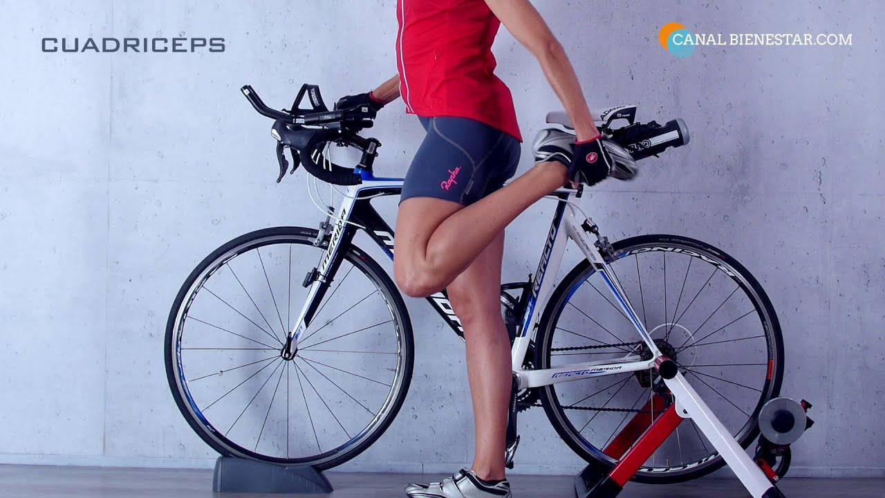 Ejercicios antes de montar bicicleta