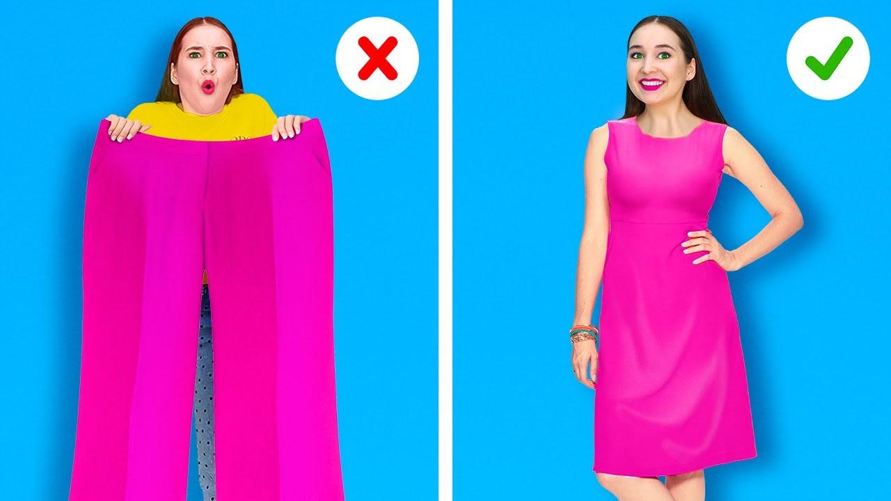 TRUCURI VESTIMENTARE DIY || Cele mai bune idei pentru a-ți îmbunătăți garderoba, marca 123 GO Like!