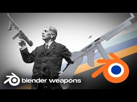 John T. Thompson  - Thompson M1A1 - BLENDER WEAPONS (Blender)