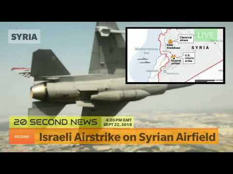 Israeli Airstrike on Syrian Airfield - Today's Breaking NEWS