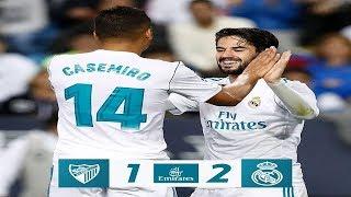 Malaga c.f (1) vs (2) real madrid c.f - all goals - la liga santander 2017/2018 (15/04/2018)