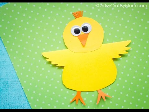 simple paper chick craft rocking paper craft easy paper craft ideas for 5426