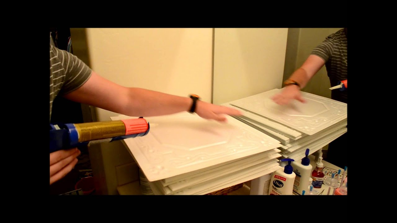 Installing ceiling tiles from ceilingtilesbyus youtube dailygadgetfo Image collections