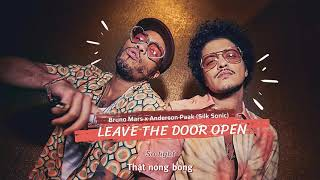 [Vietsub] Leave The Door Open - Silk Sonic (Bruno Mars, Anderson Paak) | Lyrics Video