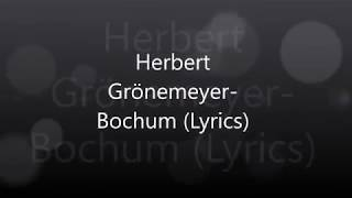 Herbert Grönemeyer-Bochum (Lyrics)