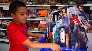 - TOYS R US Shopping For NERF Hail Fire RapidStrike Mastodon