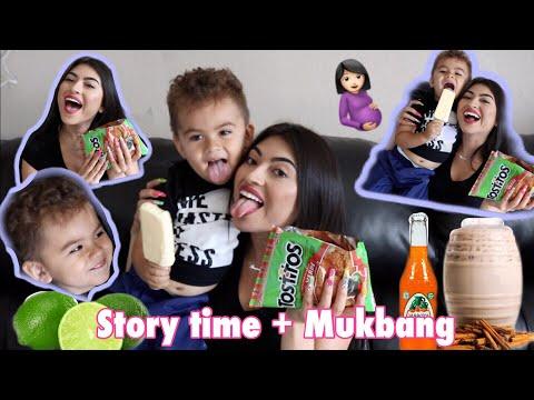 PREGNANCY and HAVING MY BABY STORYTIME + Mexican Antojitos MUKBANG