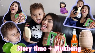 PREGNANCY and HAVING MY BABY STORYTIME + Mexican Antojitos MUKBANG