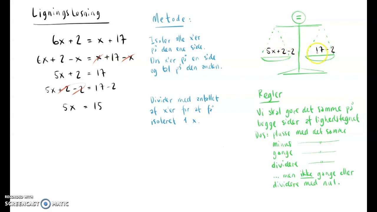 Simpel ligningsløsning