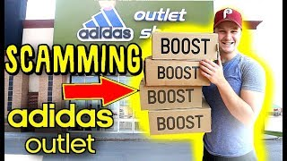 RETURNING FAKE SNEAKERS TO  ADIDAS OUTLET STORE!!! DID IT WORK??