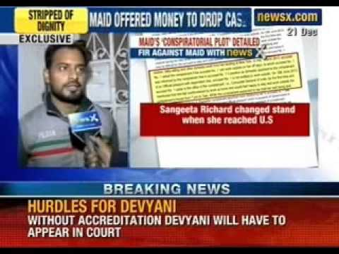 Devyani Khobragade case: Neighbour claims maid threatend and offer money to drop charges - NewsX