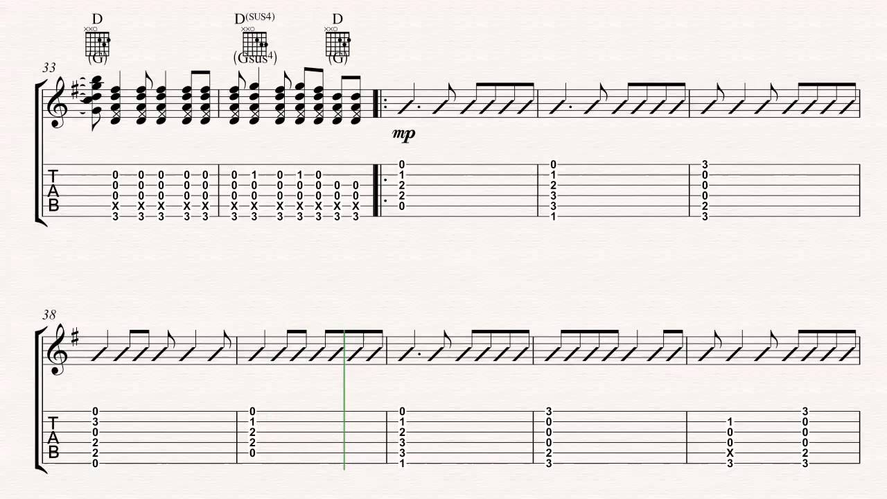 Guitar Let Her Go Passenger Sheet Music Chords Vocals Youtube