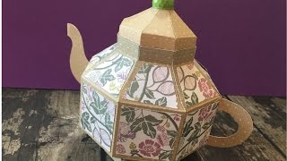 Paper Teapot by Lori Whitlock using Brother Scan n Cut