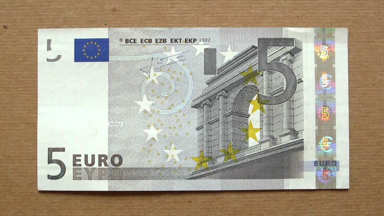 5 euro banknote five euro 2002 obverse reverse youtube. Black Bedroom Furniture Sets. Home Design Ideas