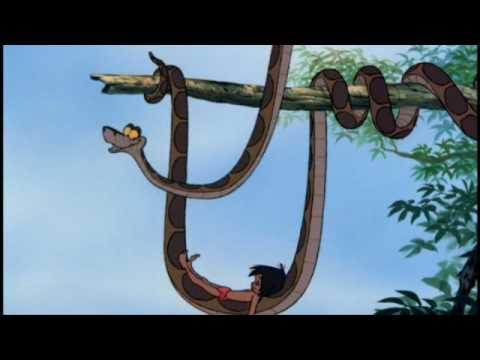 Kaa singing the Trust in me song