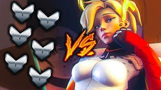 1 Top 500 MERCY vs 6 SILVER PLAYERS But Mercy Has 3x DMG